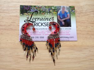 Beautiful gypsy, boho, festival beaded earrings