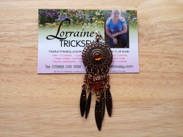 Beaded dreamcatcher pendant lovely quality