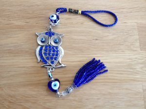 Evil eye owl talisman – protection