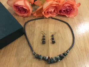 Hematite Necklace with Matching Earrings