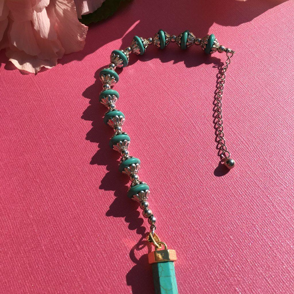 blue Howlite crystal pendulum