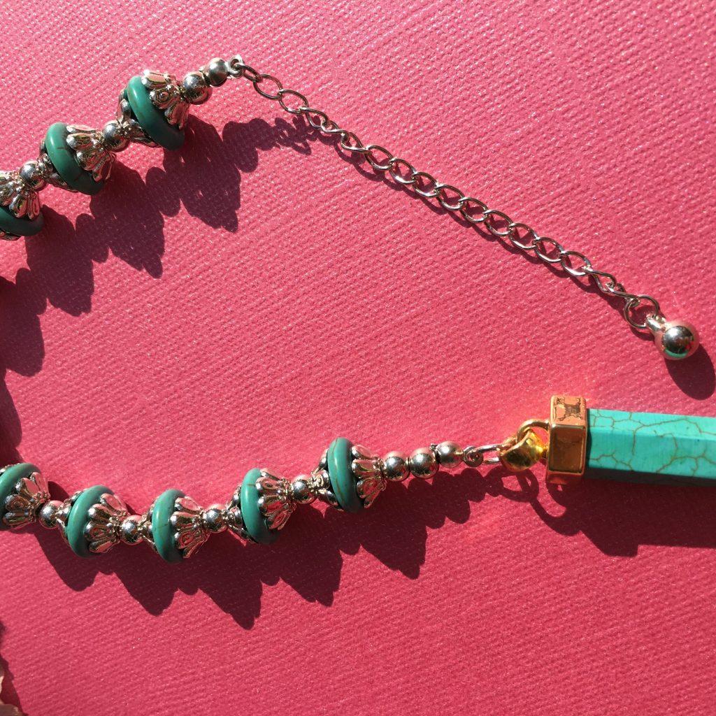 Blue Howlite crystal pendulum dowser