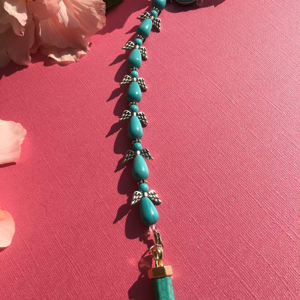 blue howlite angel crystal pendulum