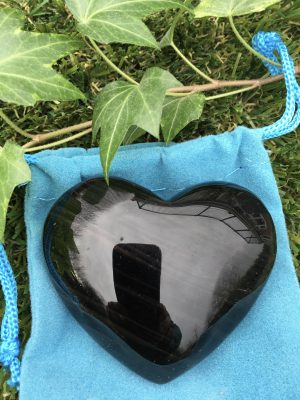 Black Obsidian Crystal Heart – 6.5cms