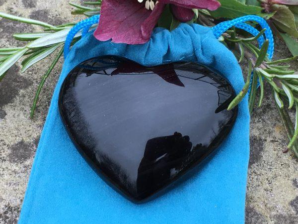 Black Obsidian Crystal Heart – 6.5cms