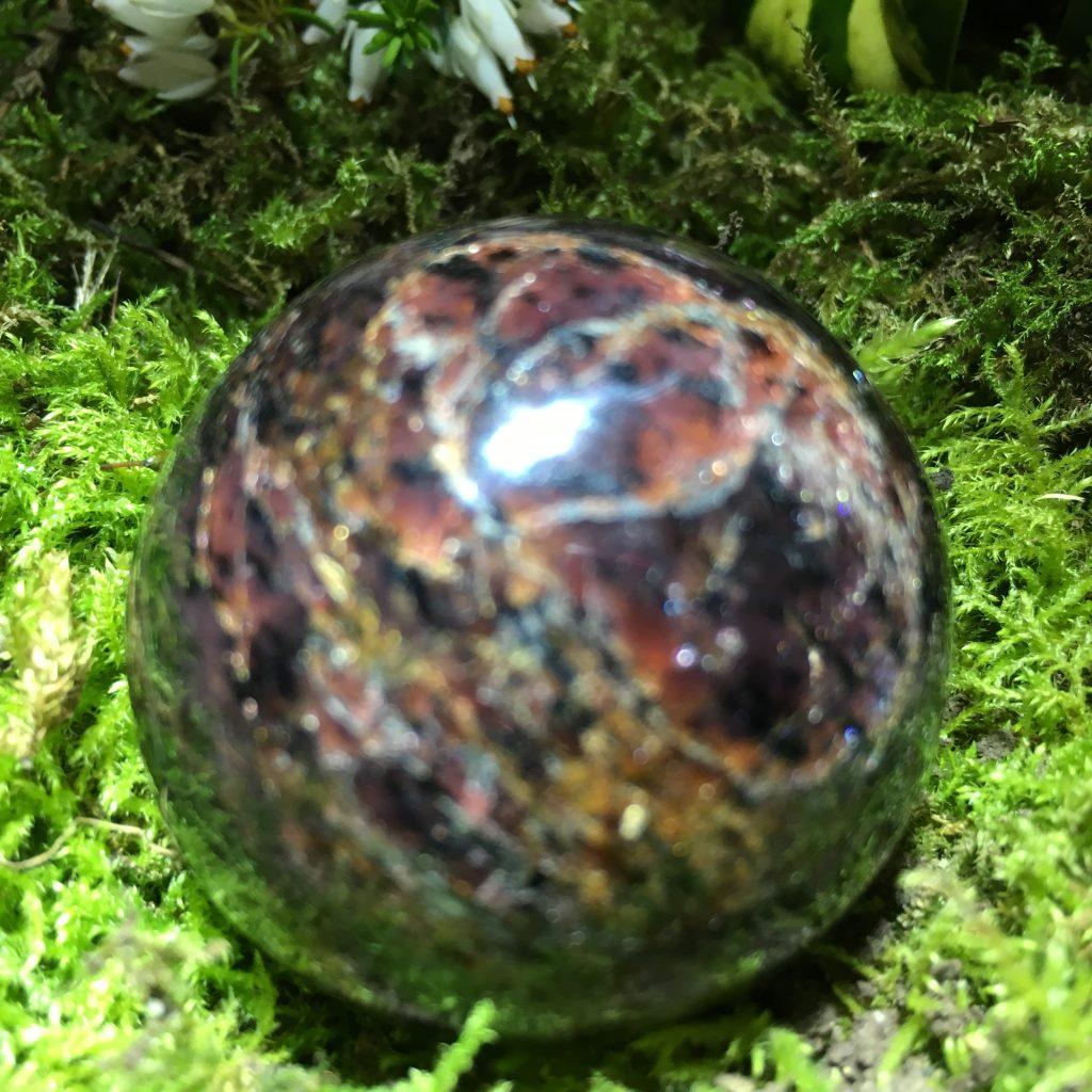 Ruby Sphere - deep red