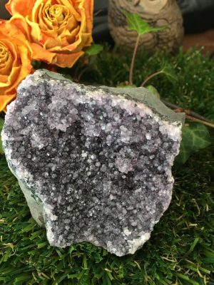 Amethyst Black Cluster Crystal (1) – dark into light