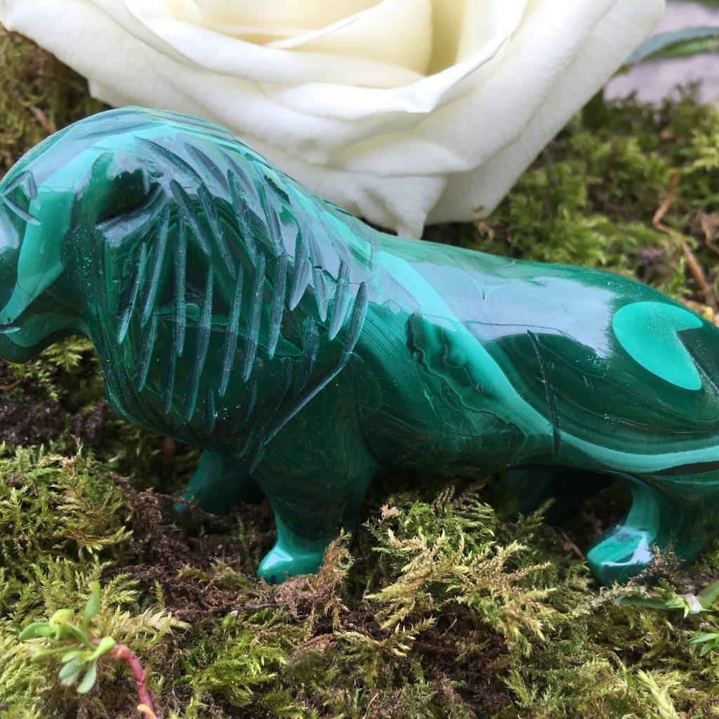 Malachite Lion Totem Power Animal