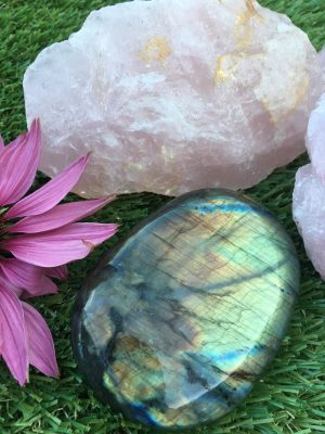 Labradorite Polished/Natural Crystal Extra Large Pebble