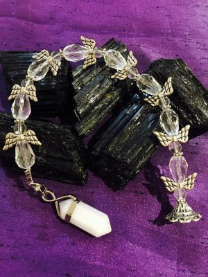 (E) Quartz Angel Pendulum / Dowser