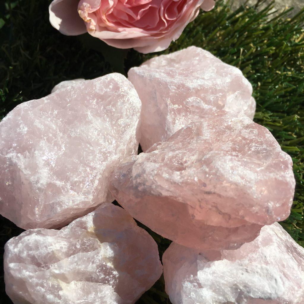 Rose Quartz Natural Crystals