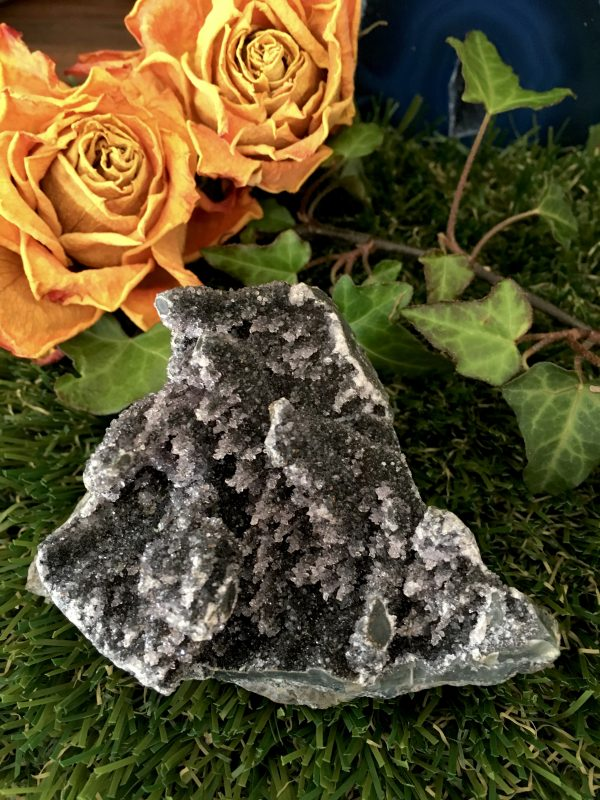 (2) Black Amethyst Cluster Crystal 165g