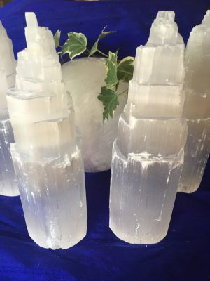 Selenite Crystal Tower – 10cms approx