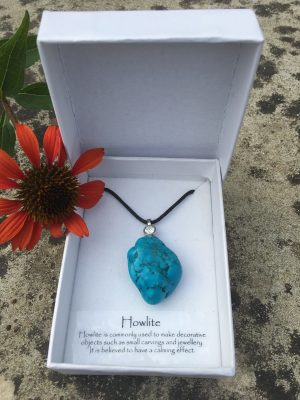 4) Howlite Gemstone Pendant