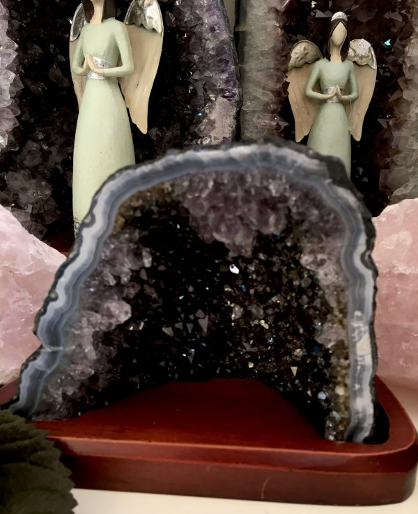 Beautiful Amethyst + Black Amethyst Cathedral – (13)