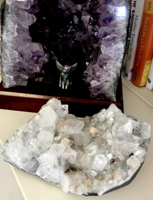 Apophyllite Cluster Geode Crystal