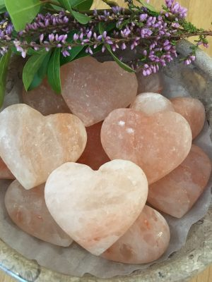 Himalayan Salt Massage hearts – Deodorant, Bath Salt, Salt Soap, Natural Cleanser