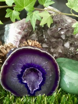 Amethyst Agate Geode Crystal