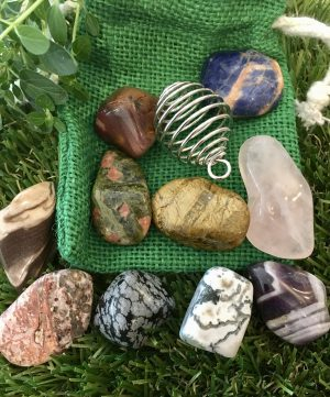 Set Of Animal Healing Crystals + Pouch
