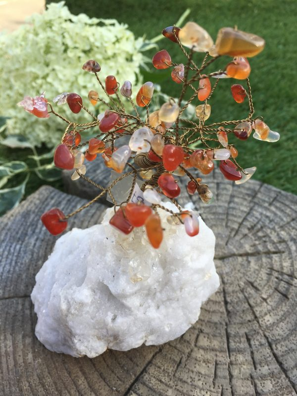 Carnelian And Citrine Gem Tree