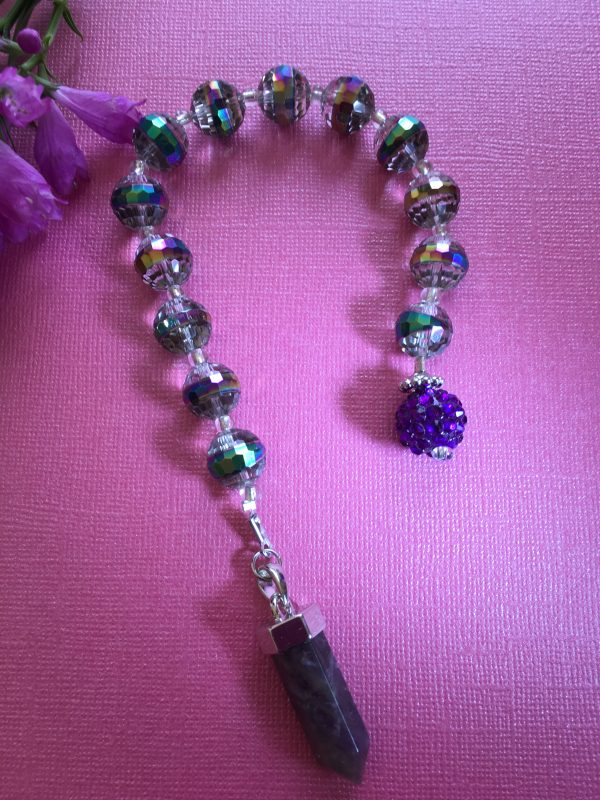 Amethyst Beaded Pendulum / Dowser – Handcrafted, Psychic Dev, Peace, Calm, Divination