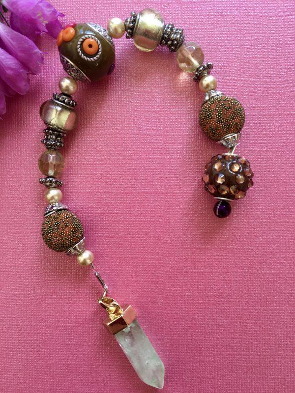 Aquamarine Beautiful Handcrafted Decorative Beaded Dowser / Pendulum