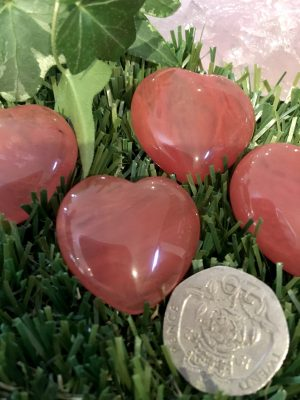 Cherry Hydro Quartz Healing Heart – Base, Heart, Higher Heart Chakras, Healing, Motivation, Release Rituals