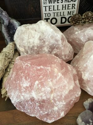 Rose Quartz Rough Crystal Large – Love Compassion Forgiveness Sacred Space