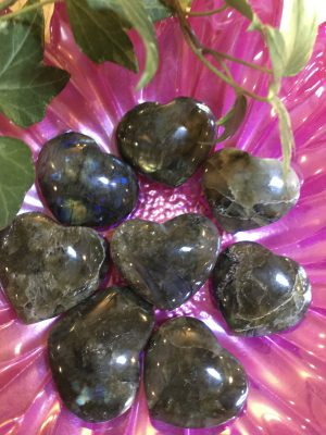 Labradorite Pocket Hearts – Polished/Natural Crystal – Powerful Mystical Stone – Transformation Change