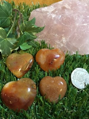 Carnelian Heart – Courage, Strength, Fears, Creativity, Cleanser, Abundance