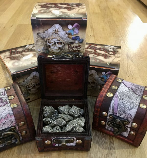Pirates Treasure Chest – Filled with Earth's Treasures – Pyrite