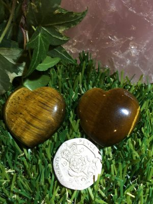 Tigers Eye Heart – Protection, Grounding, Mental Clarity, Fear, Anxiety, Good Luck Crystal