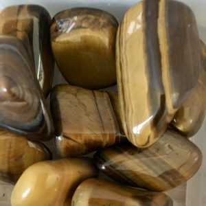 Tigers Eye Tumblestone – Protection, Grounding, Mental Clarity, Fear, Anxiety, Good Luck Crystal