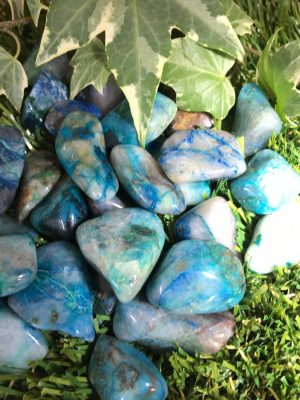 Chrysocolla Tumblestone – Auric Field Cleanser, Negative Energy, Change, Inner Balance, Blame, Guilt