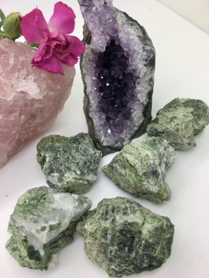 Diopside Rough Crystal – High Vibrational, Intensely Healing, Heart Chakra, Love, Trust, Commitment