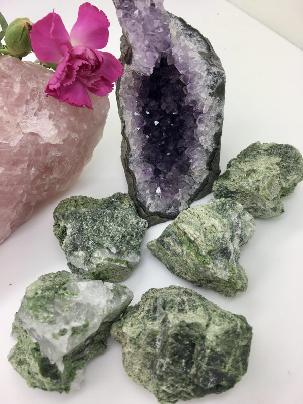 Diopside Rouch Crystal – High Vibrational, Intensely Healing, Heart Chakra, Love, Trust, Commitment