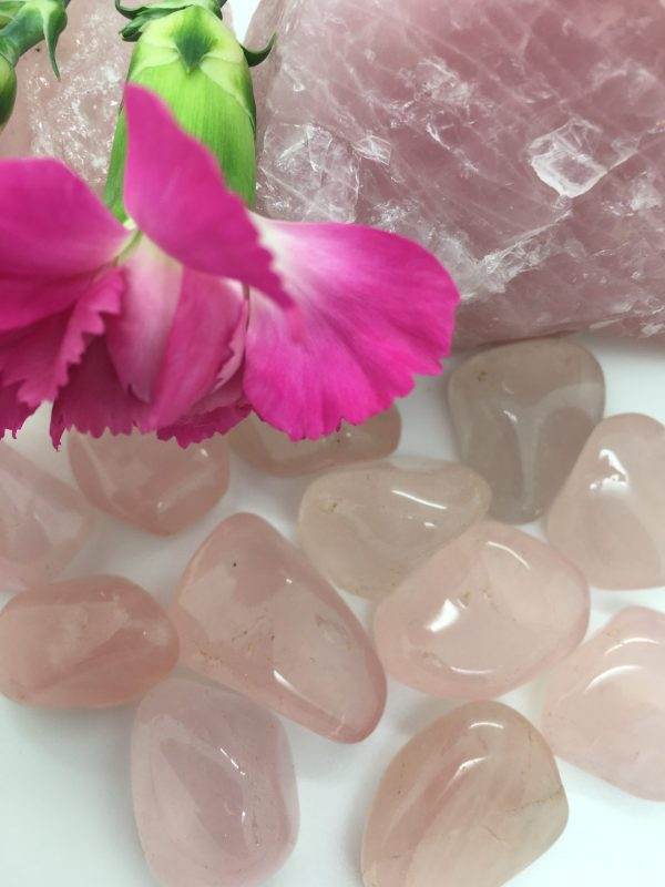 Girasol Pink Tumblestones – Visualisation, Creativity, Distant Energy Work, Reiki