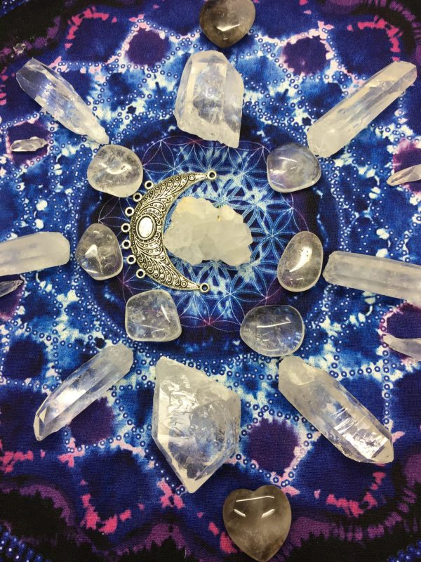 Attract Light Into Your Life Crystal Grid – 21 crystals