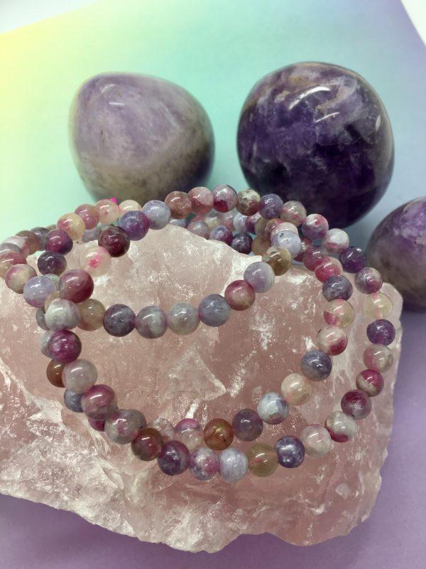 Pink Tourmaline Crystal Bracelet