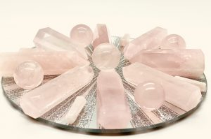Rose Quartz Mini Star Spheres