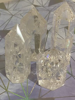 Quartz Fire Crackle Ice Generator Tower Points