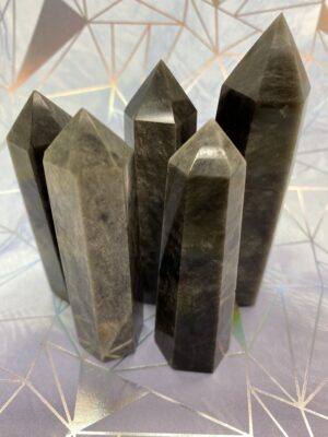 Silver Sheen Obsidian Towers