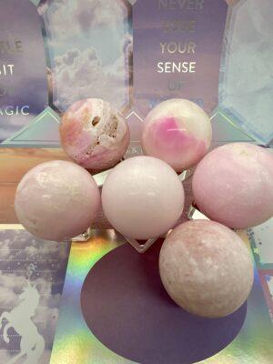 Aragonite Pink Spheres