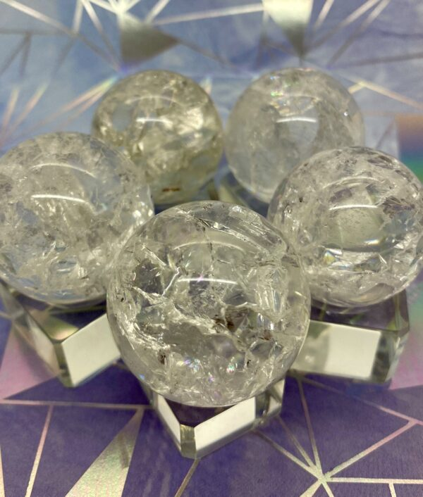 Quartz Crackle Spheres