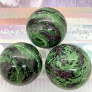 Ruby In Zoisite Spheres