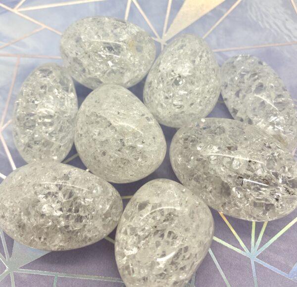 Quartz Crackle Palm Stones