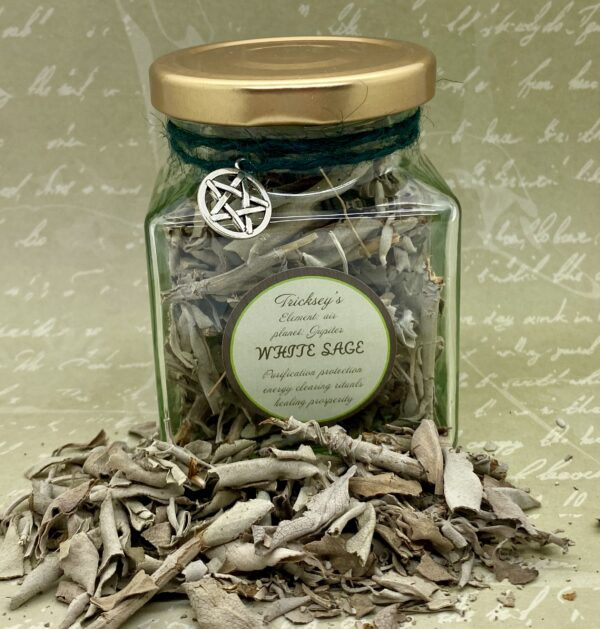 White Sage Dried Herb – Cleansing, Purification, Ritual