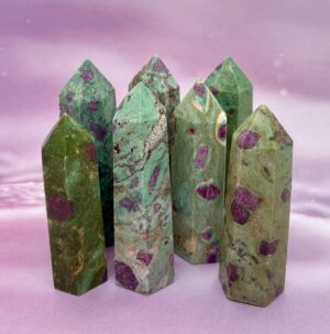 Ruby In Fuchsite towers