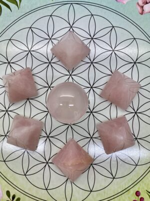 Rose Quartz Mini Pyramids