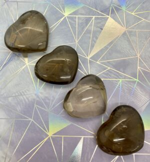 Smoky Quartz Hearts